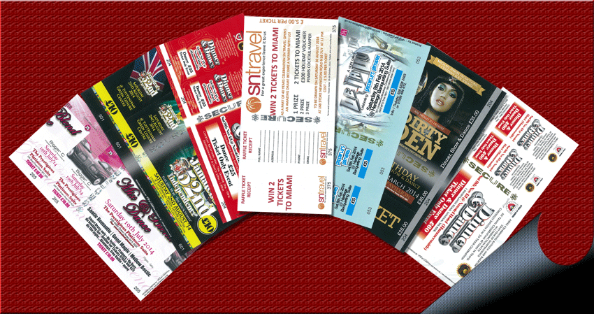 Event Ticket printing,Samples of tickets prints,Security Ticket printing